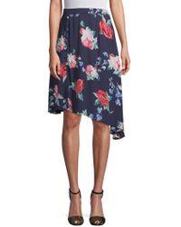 778804b2319f9 Cirana - Asymmetrical Rose-print Skirt - Lyst