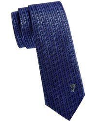 Versace - Textured Silk Tie - Lyst