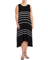 Vince Camuto - Plus Size Striped Hi-lo Dress - Lyst