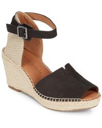 Gentle Souls - Charli Leather Espadrille Wedge Sandals - Lyst