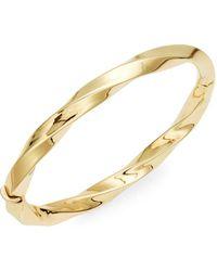 Roberto Coin - 18k Yellow Gold Wave Bangle Bracelet - Lyst