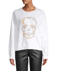 Zadig & Voltaire - Embroidered Skull Cotton Jumper - Lyst