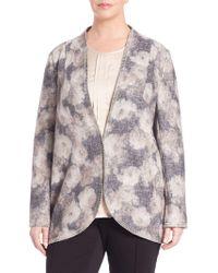 Basler - Floral Open-knit Long Cardigan - Lyst