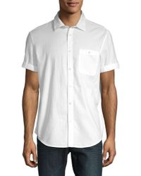 Calvin Klein Jeans - Cotton Short Sleeve Sport Shirt - Lyst