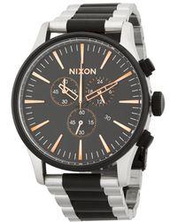 Nixon - Stainless Steel Stripe Bracelet Watch - Lyst