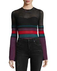 Ronny Kobo - Multicolored Mesh Bodysuit - Lyst