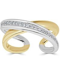 Saks Fifth Avenue - Diamond And 14k Gold X Ring - Lyst