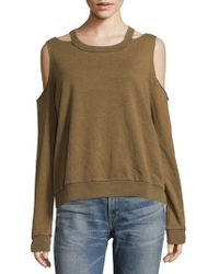 Project Social T - Saguaro Cold-shoulder Long Sleeve Sweatshirt - Lyst