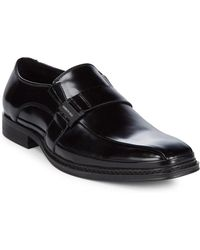 Kenneth Cole - Almond Toe Leather Loafers - Lyst