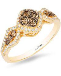 Le Vian - Chocolatier® Honey Goldtm Chocolate & Vanilla Diamond® Geometric Ring - Lyst