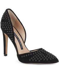 French Connection - Maggie Point Toe Slip-on Pumps - Lyst