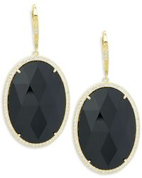 Saks Fifth Avenue | Goldtone Cubic Zirconia Earrings | Lyst