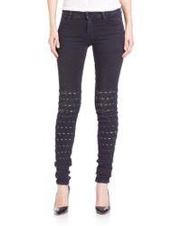 Brockenbow Al Jarretelle Embroidered Skinny Jeans - Blue
