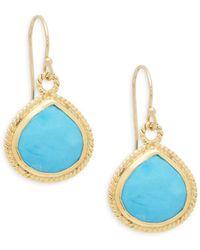 Alanna Bess - Turquoise Drop Earrings - Lyst