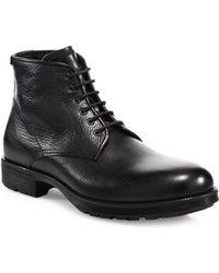 Aquatalia - Harvey Leather Work Boots - Lyst