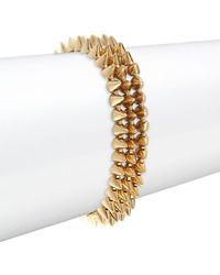 Eddie Borgo - Three-strand Studded Bracelet - Lyst