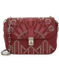 Valentino - Love Blade Embroidered Leather Chain Shoulder Bag - Lyst