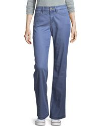 NYDJ - Chambray Wide-leg Trousers - Lyst