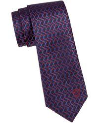 Versace - Embroidered Silk Tie - Lyst