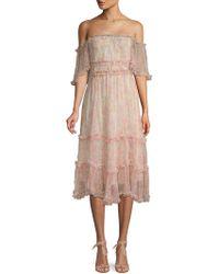 Love Sam - Sadie Floral Off-the-shoulder Dress - Lyst