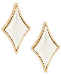 Stephanie Kantis - Cabochon Diamond Sterling Silver Earrings - Lyst
