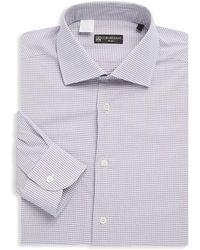 Corneliani - Chequered Cotton Dress Shirt - Lyst