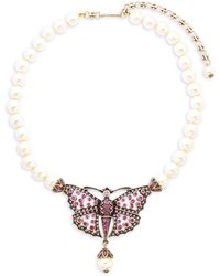 Heidi Daus - Butterfly Faux Pearl Necklace - Lyst