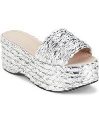Aperlai - Orianna Braided Flatform Sandals - Lyst