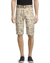 Xray Jeans - Camouflage Cotton Cargo Shorts - Lyst