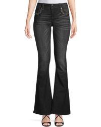 Miss Me - Yoke Embellished Flared Jeans - Lyst