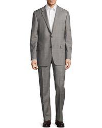 Hickey Freeman - Regular-fit Millburn Wool Windowpane Suit - Lyst