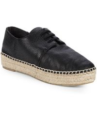 Vince - Cynthia Lace-up Leather Espadrilles - Lyst