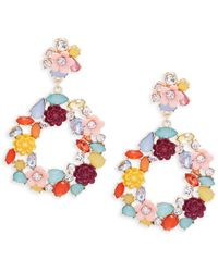 Natasha Couture - Floral Cluster Drop Earrings - Lyst