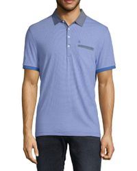 Original Penguin - Short-sleeve Striped Cotton Polo - Lyst
