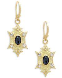 Armenta - Sueno Gemstone & Diamond Yellow Gold Point Drop Earrings - Lyst