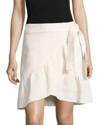 A.L.C. - Hampton Ruffled Linen & Silk Skirt - Lyst