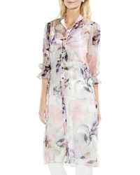 Vince Camuto - Floral Side-tie Tunic - Lyst