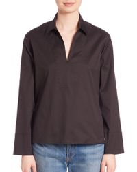 Vince - Solid Long Sleeve Top - Lyst