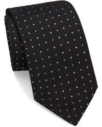 Brioni - Raw-silk Dotted Tie - Lyst