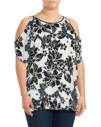 Vince Camuto - Plus Floral Cold-shoulder Tunic - Lyst