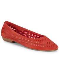 Nine West - Glack Perforated Suede Flats - Lyst