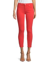 7 For All Mankind - Gwen Cropped Jeans - Lyst