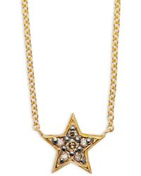 KC Designs - Champagne Diamond & 14k Yellow Gold Star Necklace - Lyst