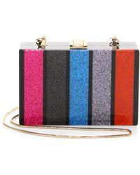 MILLY - Glitter Box Clutch - Lyst
