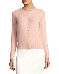 Piazza Sempione - Ribbed Button-front Cardigan - Lyst