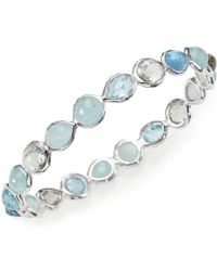 Ippolita - Rock Candy Semi-precious Multi-stone & Sterling Silver Mini Hero Bangle Bracelet - Lyst