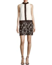 Maggy London - Mockneck Lace Dress - Lyst