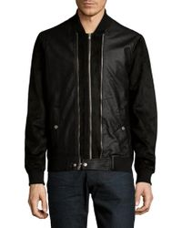 Members Only - Double Front Zip Bomber Jacket - Lyst