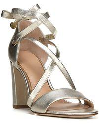 Lyst Diane von furstenberg Calabar Pelle Sandalo in Metallic