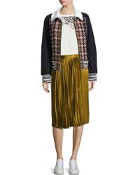 Public School - Gamil Silk Pleated Skirt - Lyst